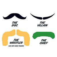 Fingerstaches: The Doc Temporary Tattoo Set