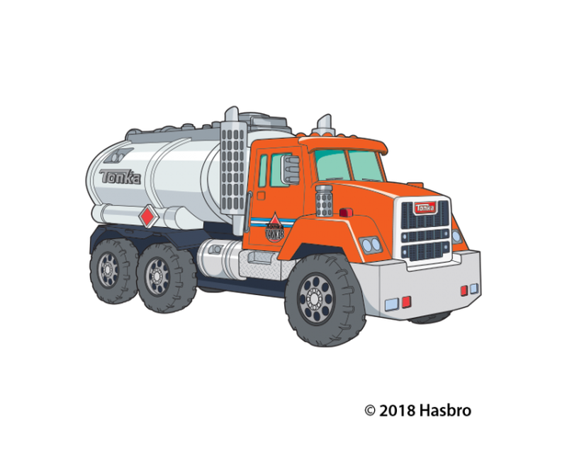 Tonka Tanker Truck Temporary Tattoo image number null