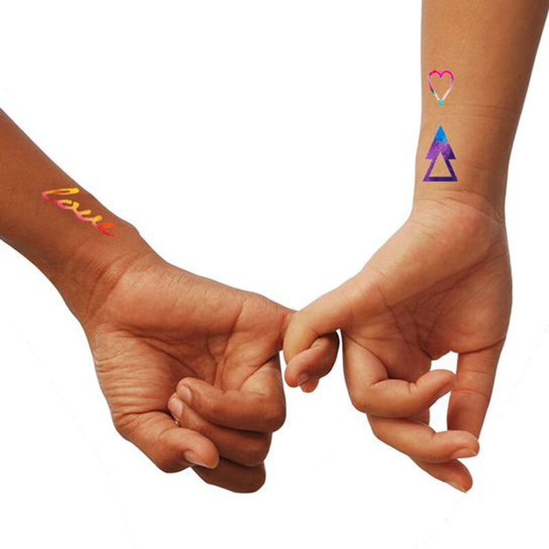 Metallic Love Temporary Tattoo image number null