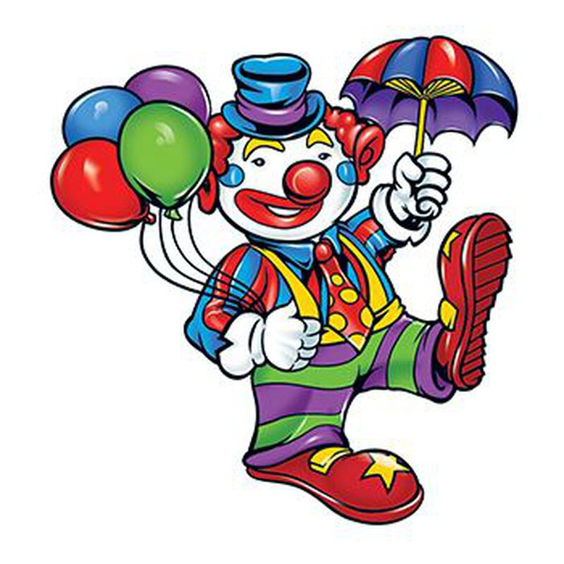 Clown with Balloons Temporary Tattoo image number null