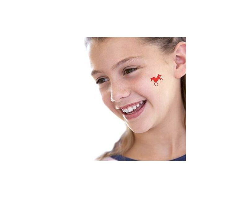 Small Red Horse Temporary Tattoo image number null