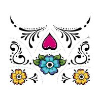 Day of the Dead Floral Accessories Temporary Tattoo