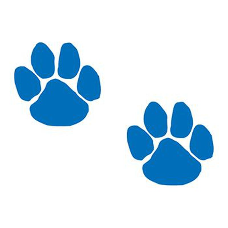 Two Blue Paws Temporary Tattoo image number null