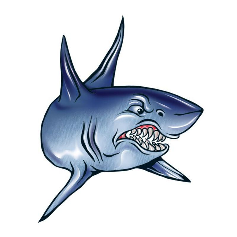 Angry Shark Temporary Tattoo image number null