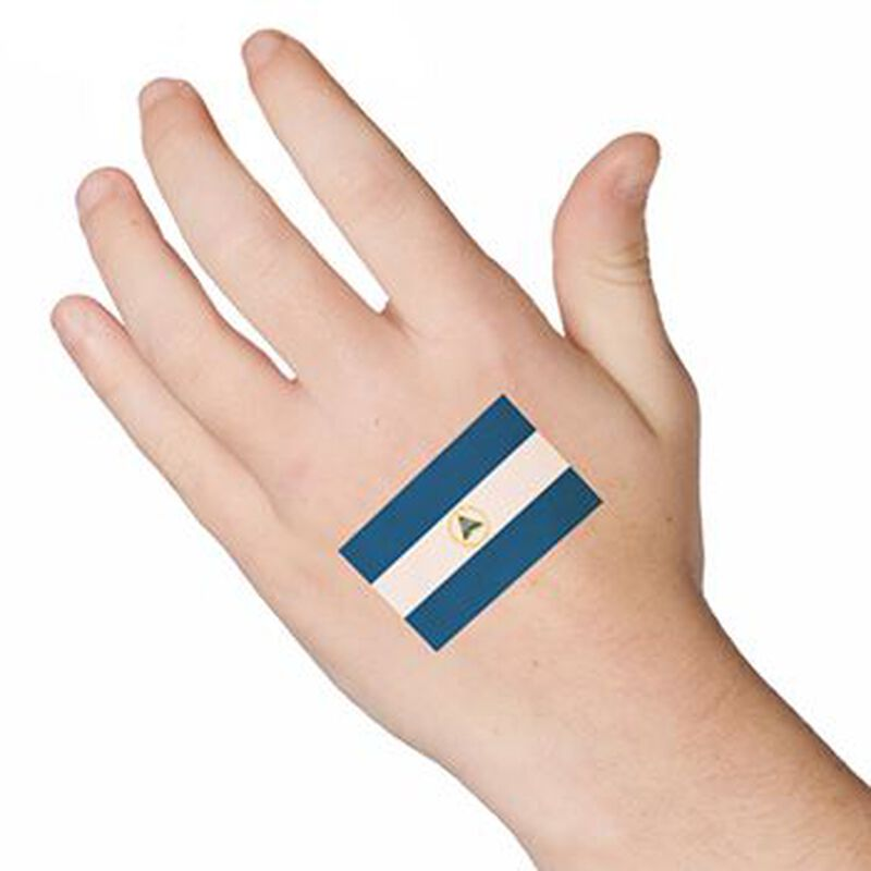 Flag of Nicaragua Temporary Tattoo image number null