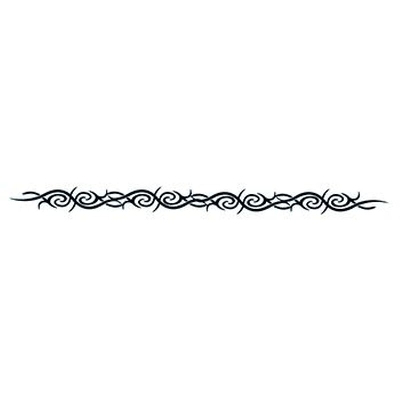 Glow in the Dark Barbed Band Temporary Tattoo image number null