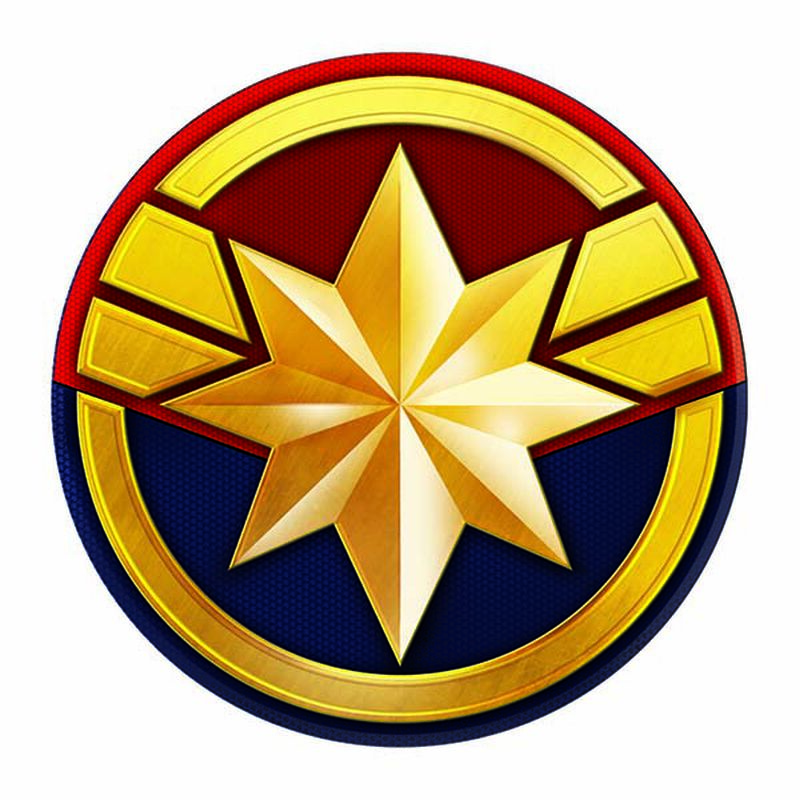 Avengers Captain Marvel Symbol Temporary Tattoo image number null