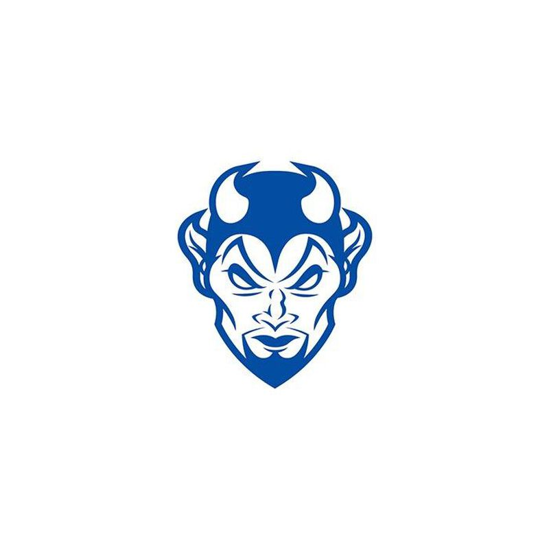 Small Blue Devil Temporary Tattoo image number null