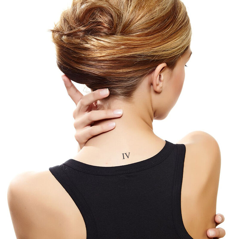 Roman Numeral Four Temporary Tattoo image number null
