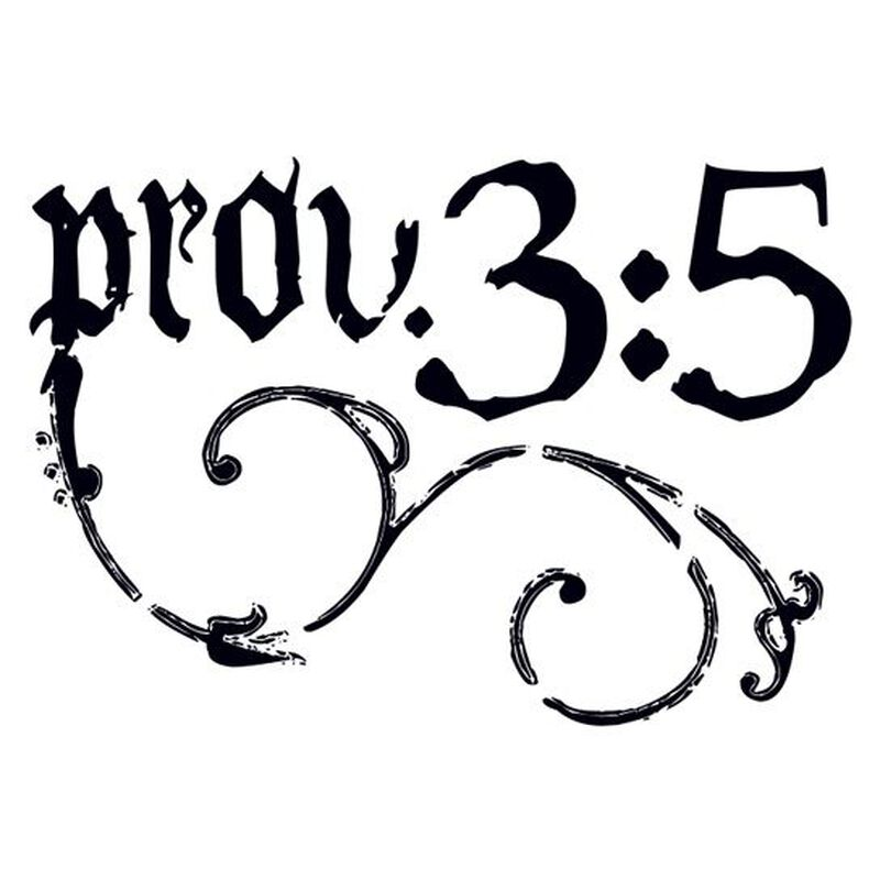Proverbs 3:5 Temporary Tattoo image number null