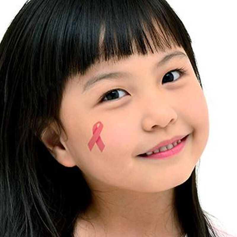 Pink Ribbons & Heart Temporary Tattoo image number null