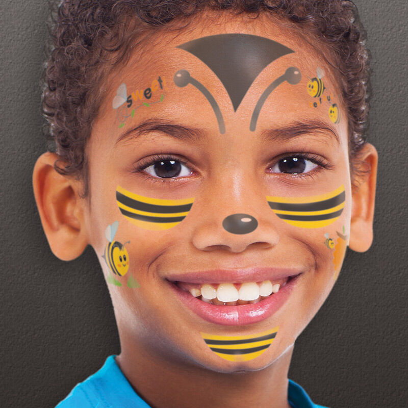 Bumble Bee Kids Costume Tattoo image number null