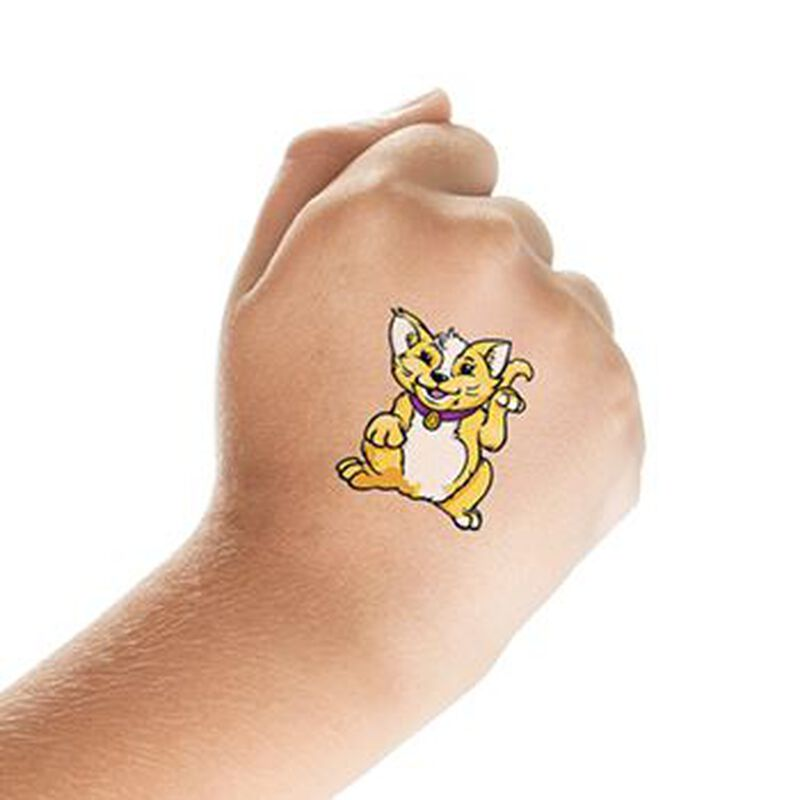Yellow Cat Temporary Tattoo image number null
