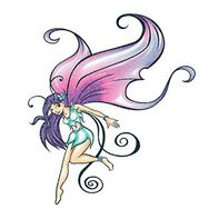 Glitter Winged Fairy Temporary Tattoo