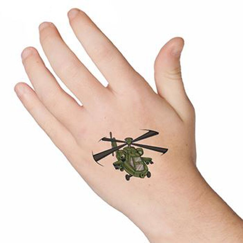 Helicopter Temporary Tattoo image number null