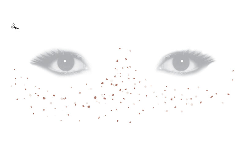 Realistic Medium Freckle Face Temporary Tattoo image number null