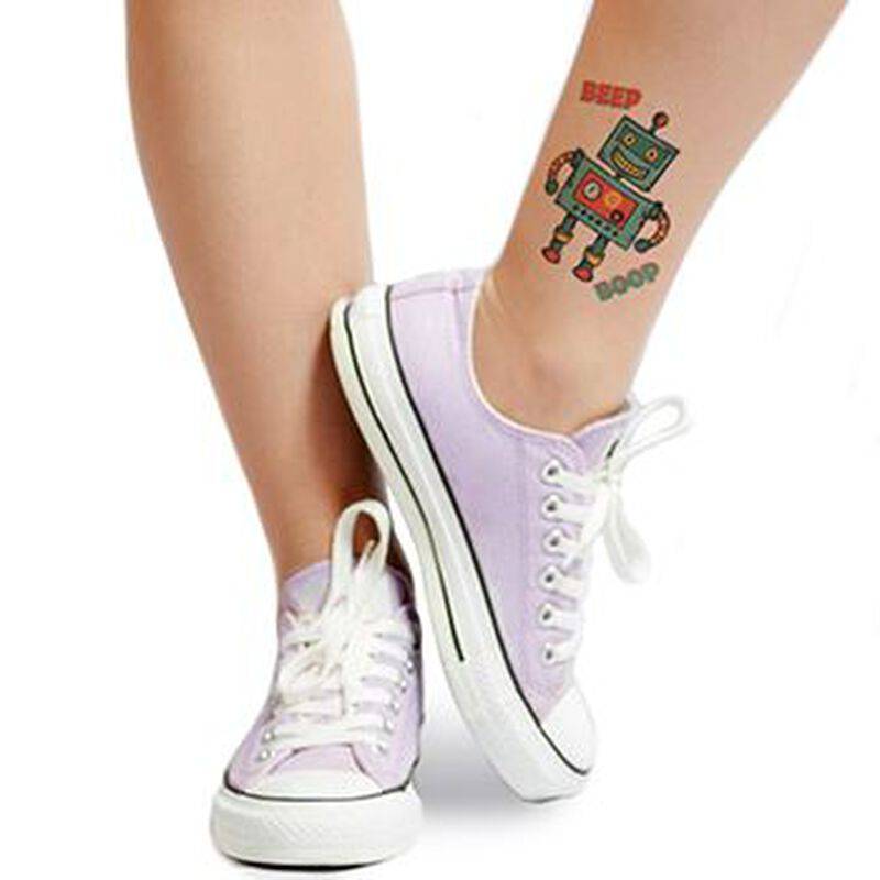 Perfect Robot Pal Temporary Tattoo image number null