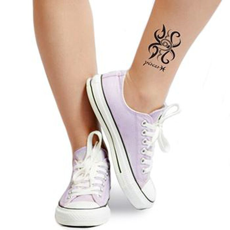 Zodiac: Pisces Design Temporary Tattoo image number null