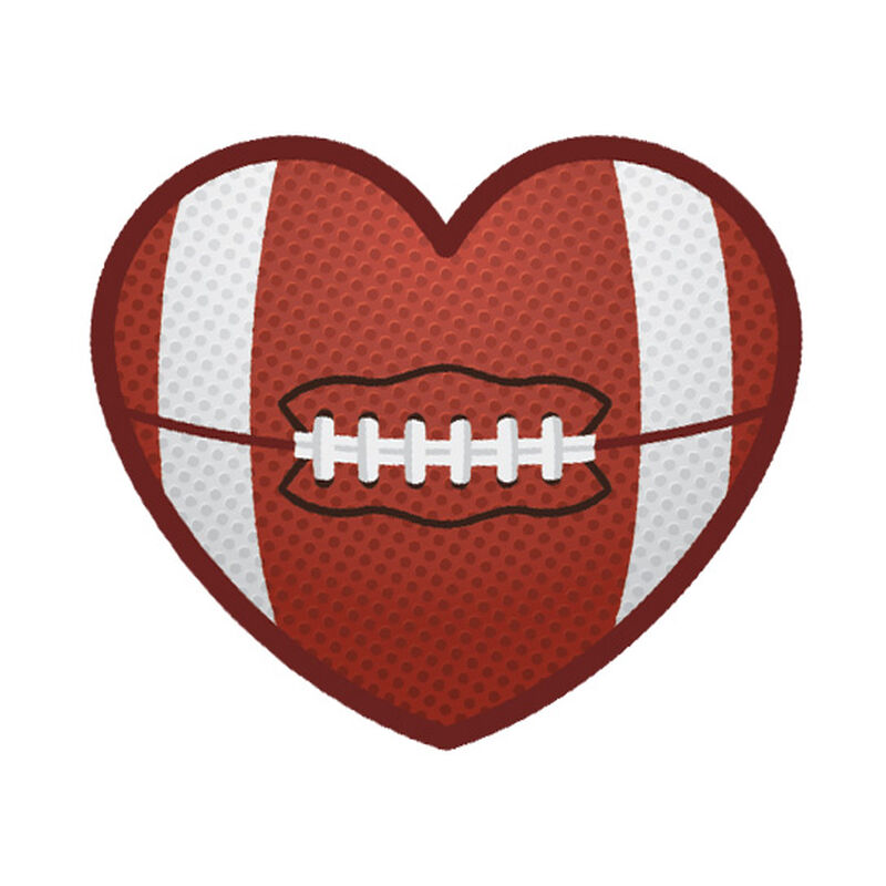 Football Heart Temporary Tattoo image number null