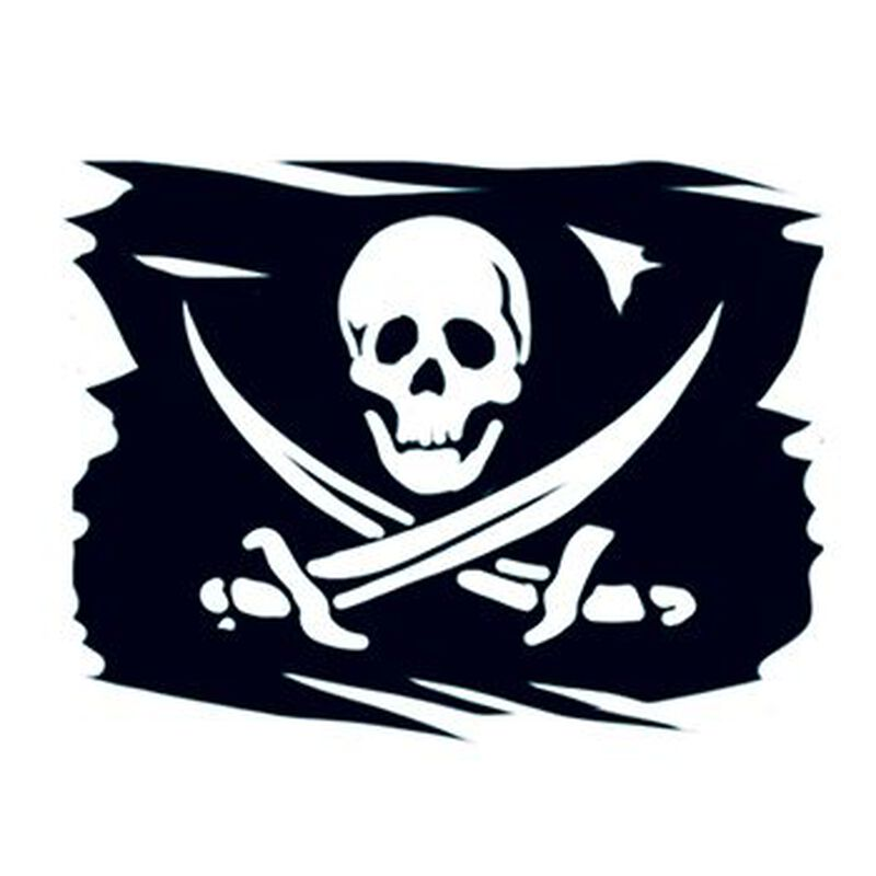 Pirate Flag Temporary Tattoo image number null