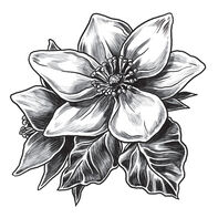Gray Magnolia Temporary Tattoo
