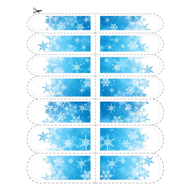 Blue Snowflake Nail Temporary Tattoo image number null