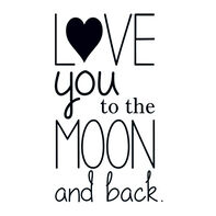 Love You to the Moon and Back Temporary Tattoo