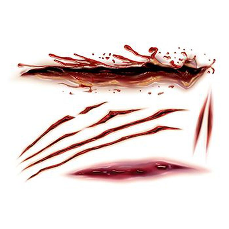 Gory Slashes & Scars Temporary Tattoo image number null