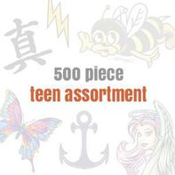 Temporary Tattoos for Teens (500 tattoos)