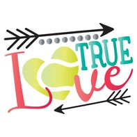 Metallic True Love Tennis Temporary Tattoo