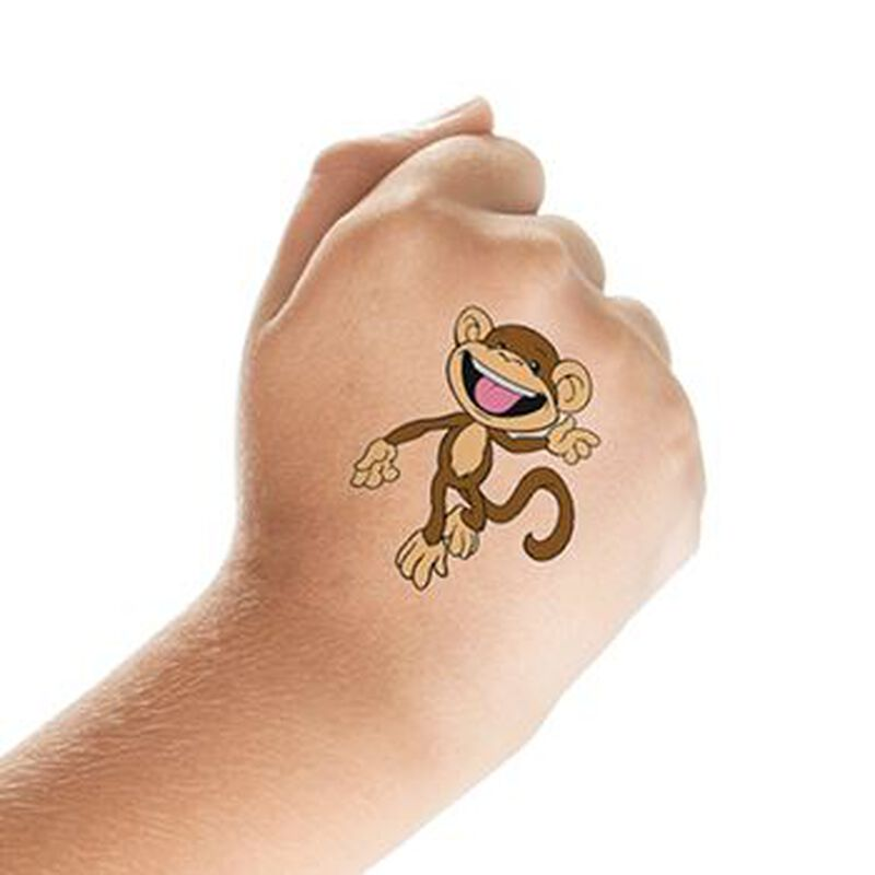 Monkey Temporary Tattoo image number null