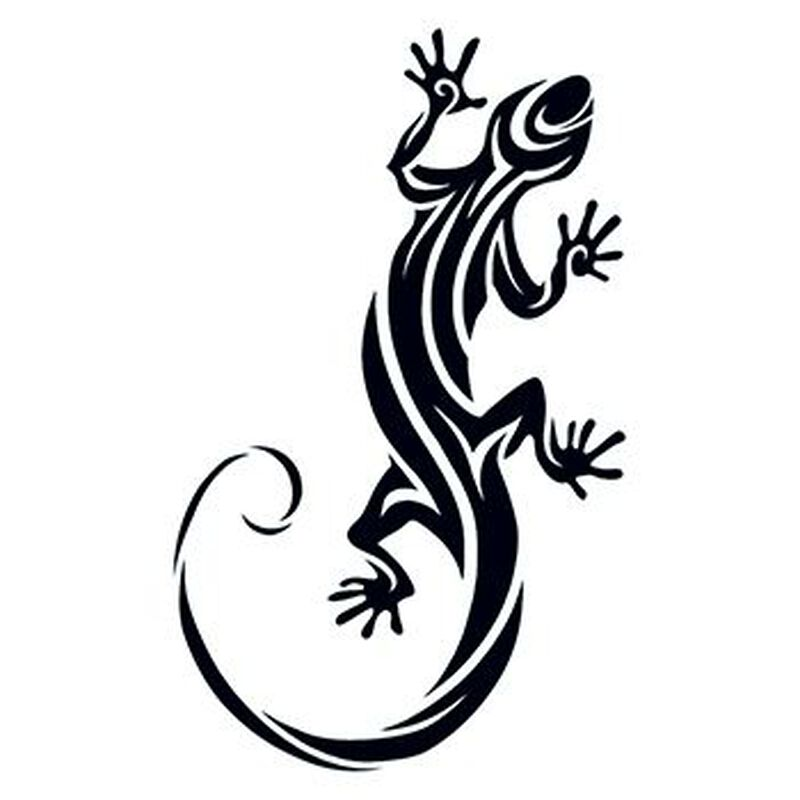 Tribal Lizard Temporary Tattoo image number null