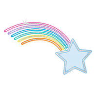My Little Pony Metallic Rainbow Shooting Star Temporary Tattoo