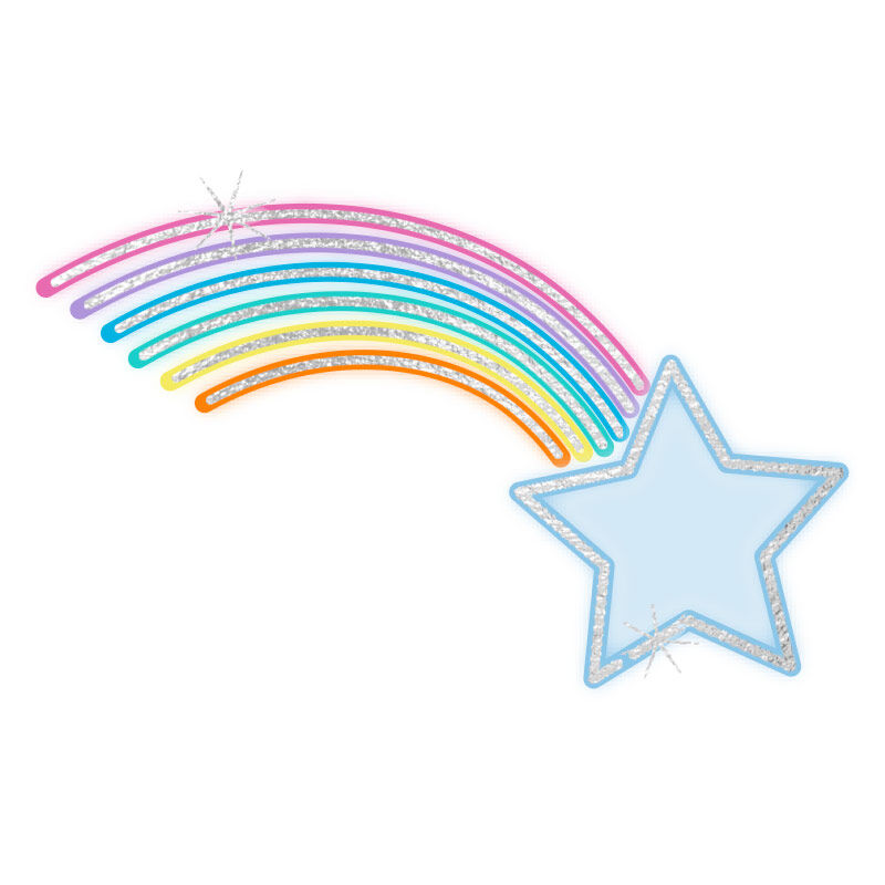 My Little Pony Metallic Rainbow Shooting Star Temporary Tattoo image number null