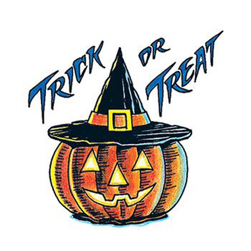 Trick or Treat Pumpkin Temporary Tattoo image number null