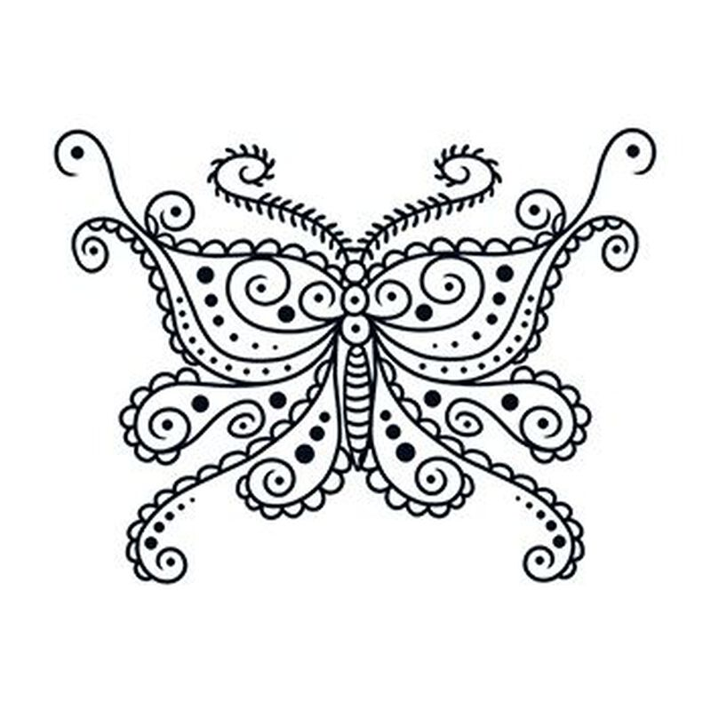 Henna: Butterfly Temporary Tattoo image number null
