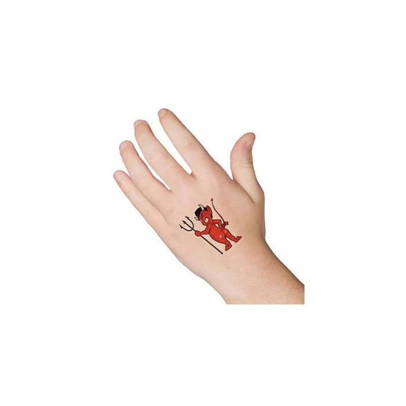 Devil with Pitchfork Temporary Tattoo image number null