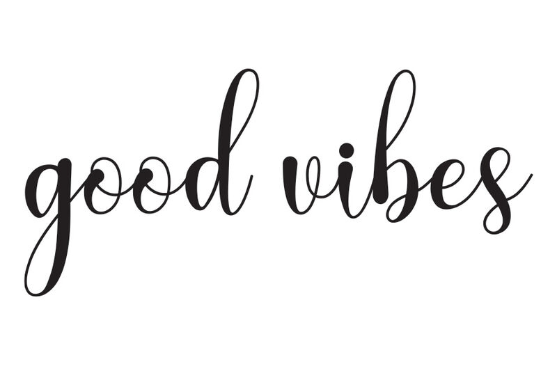Cursive Good Vibes Temporary Tattoo image number null