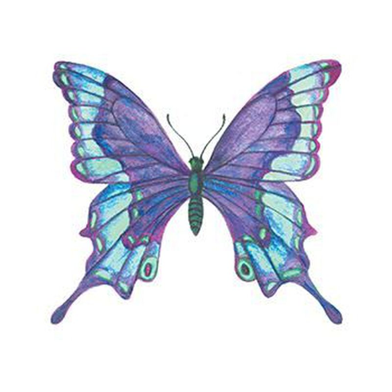 Blue Butterfly Temporary Tattoo image number null