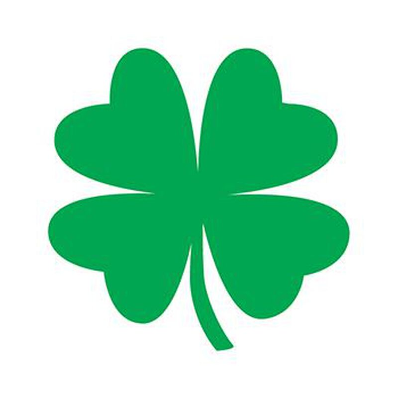 Four Leaf Clover Temporary Tattoo image number null