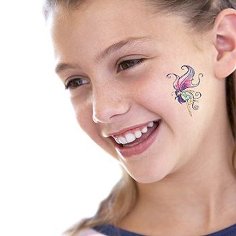 Glitter Winged Fairy Temporary Tattoo image number null