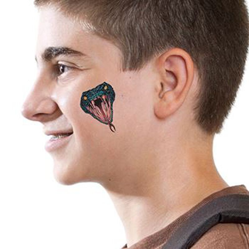 Cobra Head Temporary Tattoo image number null