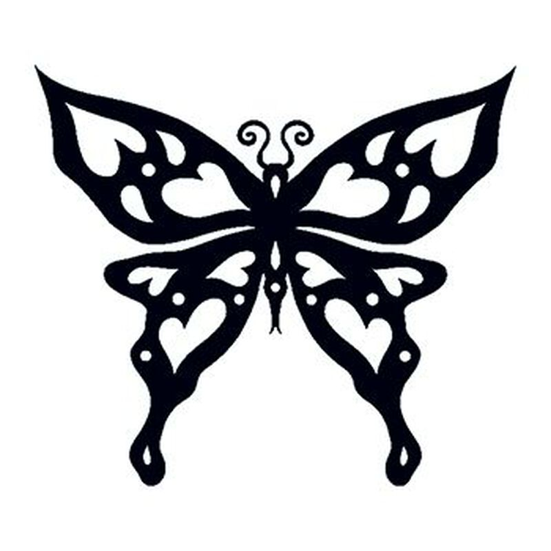 Glow in the Dark Tribal Butterfly Temporary Tattoo image number null