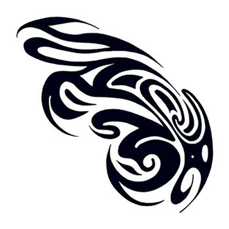 Tribal Swirls Temporary Tattoo image number null