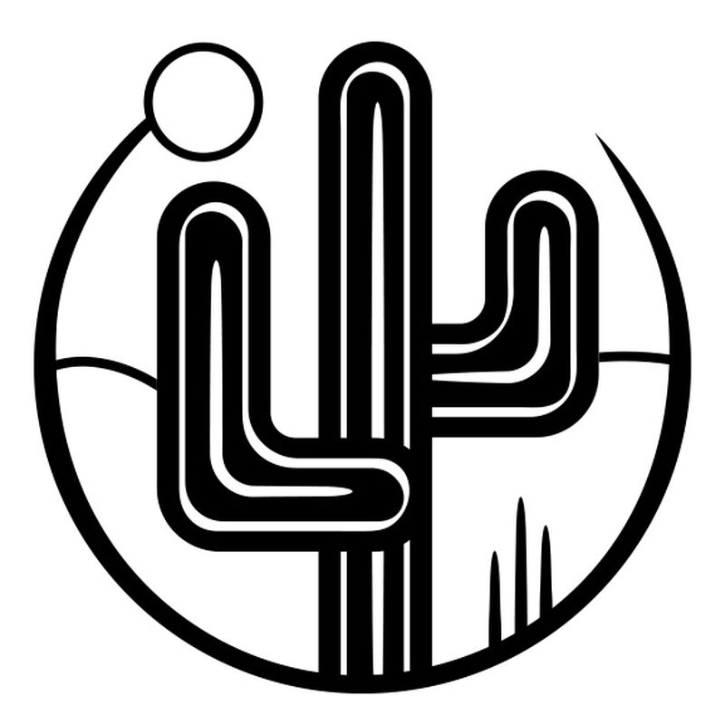 Cactus Under the Sun Temporary Tattoo image number null