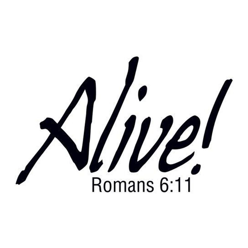 Alive Religious Temporary Tattoo image number null