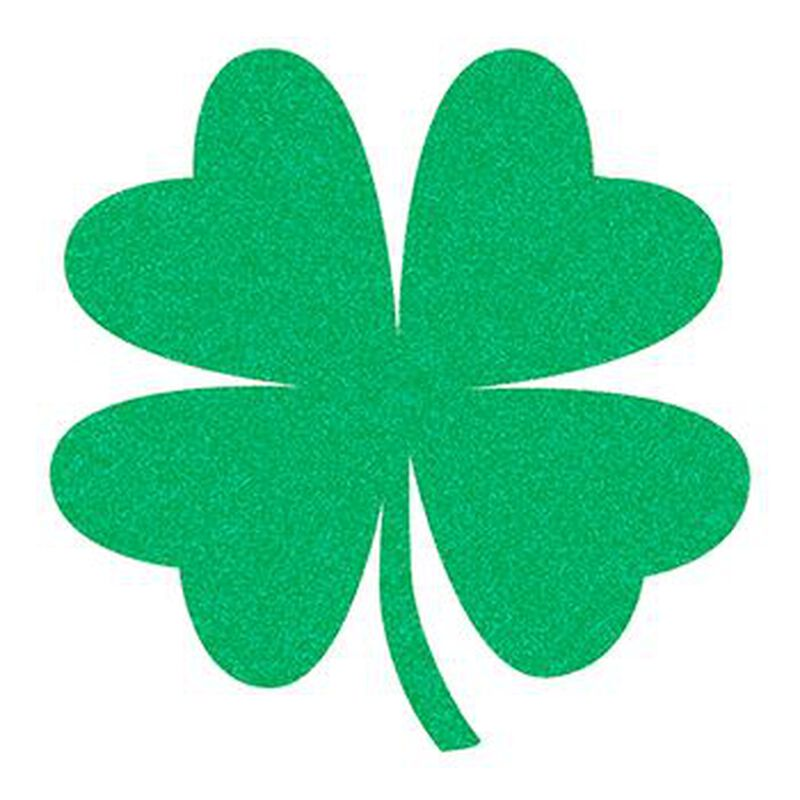 Glitter Four Leaf Clover Temporary Tattoo image number null