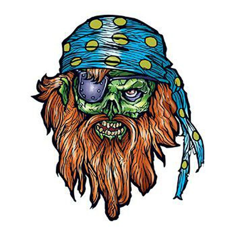 Bearded Pirate Temporary Tattoo image number null