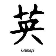 Courage Kanji Temporary Tattoo