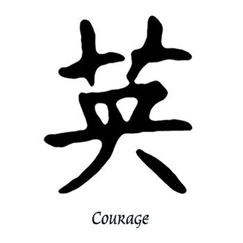 Courage Kanji Temporary Tattoo image number null